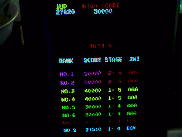 Galaga 88 27,620 points