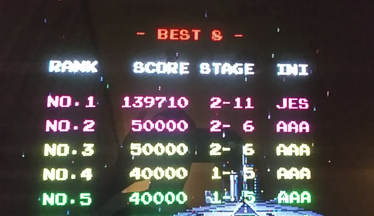 JES: Galaga 88 (Arcade Emulated / M.A.M.E.) 139,710 points on 2017-04-08 11:52:01