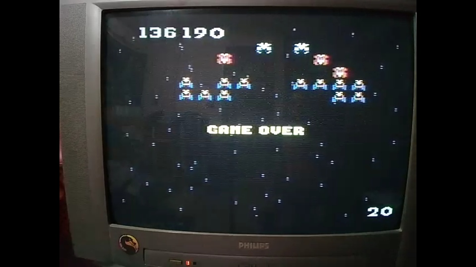 omargeddon: Galaga: Advanced (Atari 7800) 136,190 points on 2020-10-16 18:44:23