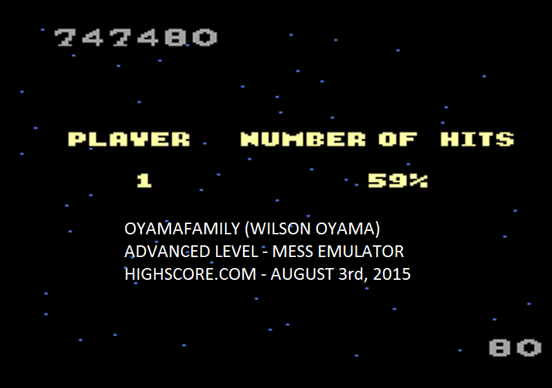 oyamafamily: Galaga: Advanced (Atari 7800 Emulated) 747,480 points on 2015-08-06 19:57:46