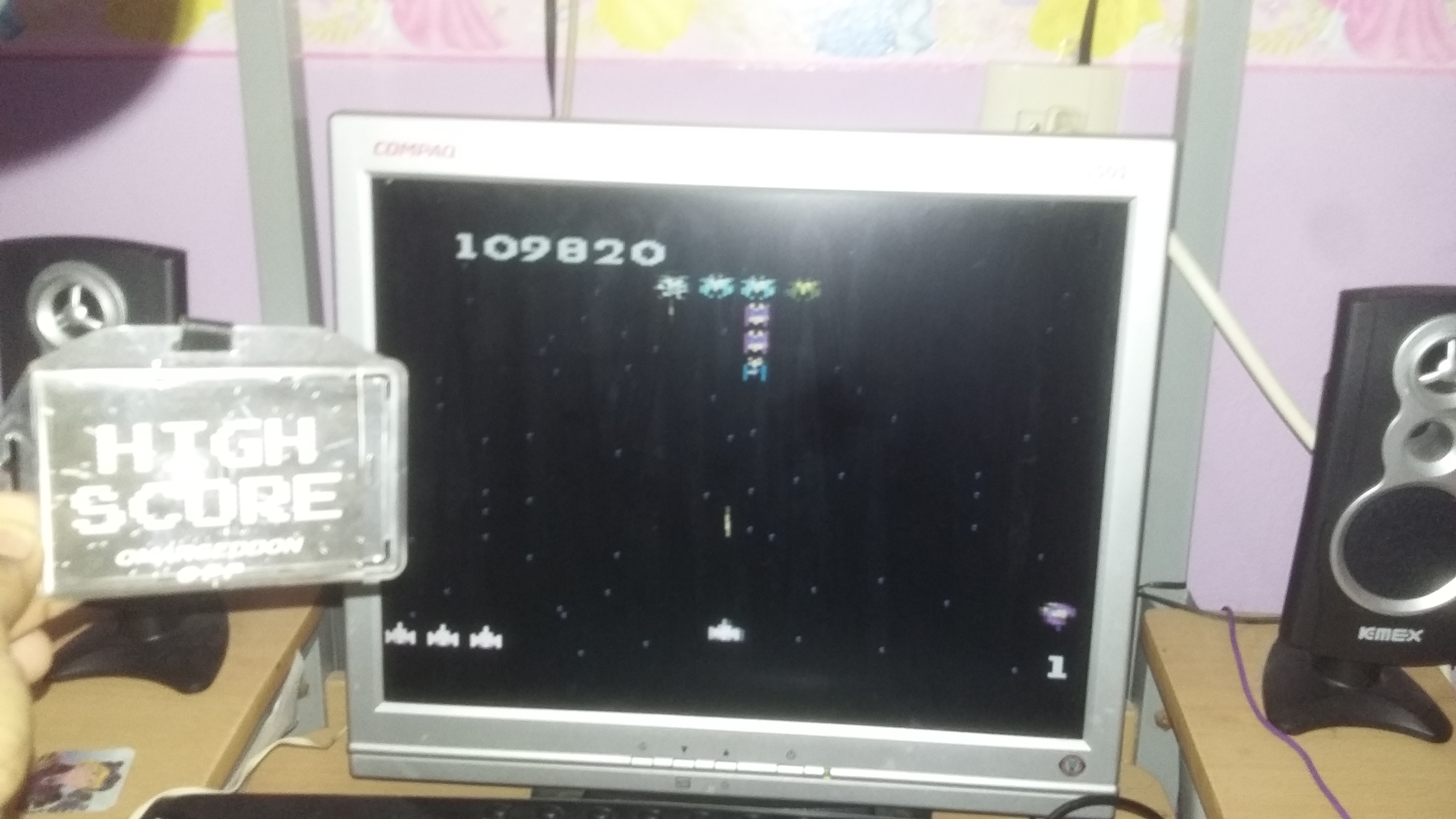 omargeddon: Galaga: Advanced (Atari 7800 Emulated) 109,820 points on 2017-05-24 23:18:30