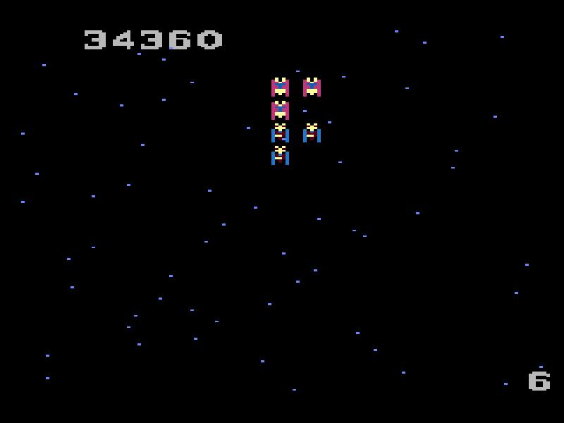 GAMES: Galaga: Advanced (Atari 7800) 34,360 points on 2019-12-31 08:13:26
