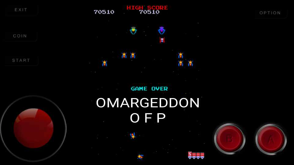 omargeddon: Galaga (Arcade Emulated / M.A.M.E.) 70,510 points on 2016-12-02 00:27:42
