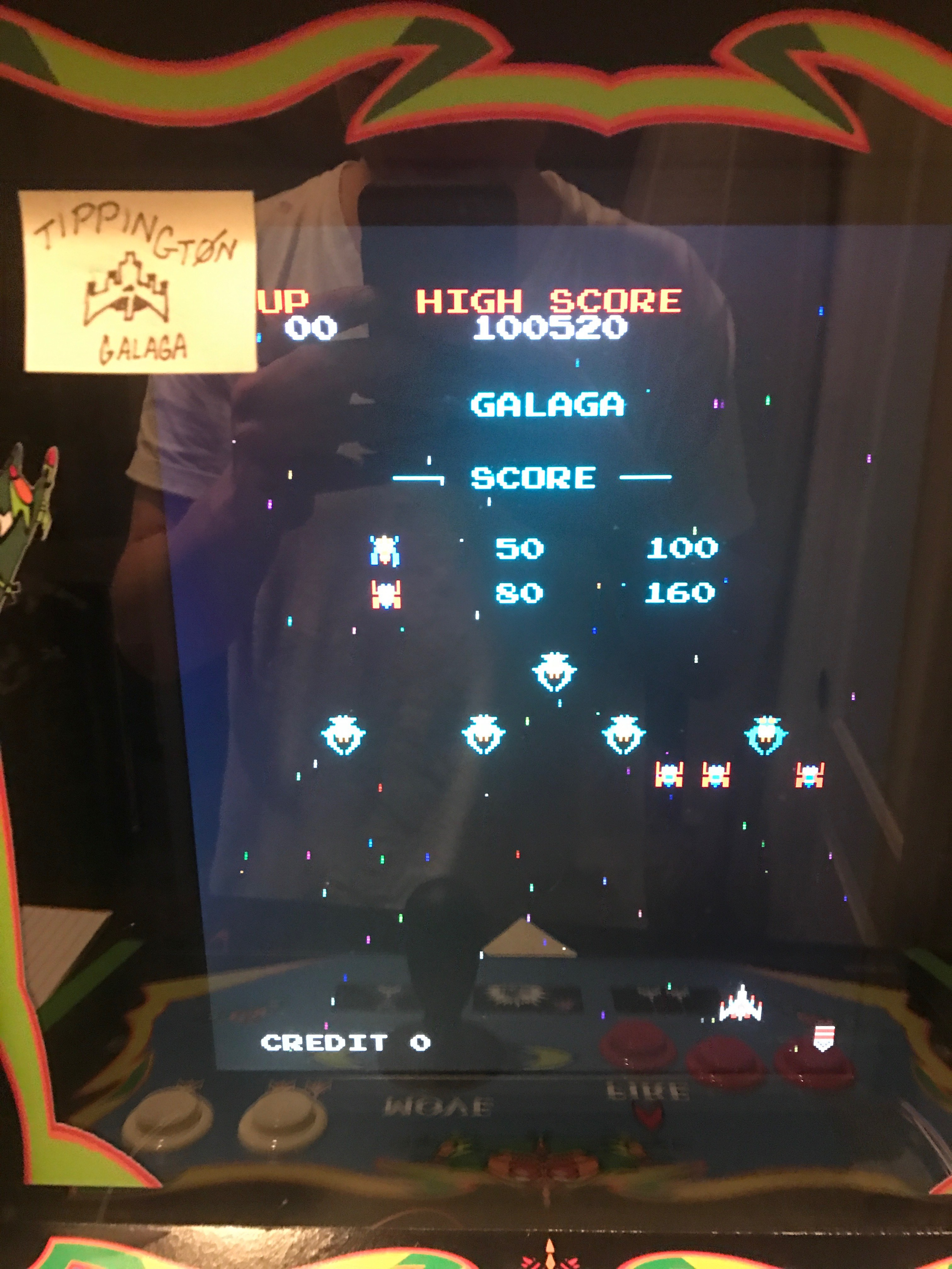 Galaga 100,520 points