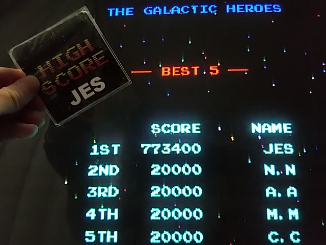 JES: Galaga (Arcade Emulated / M.A.M.E.) 773,400 points on 2018-05-29 22:06:47