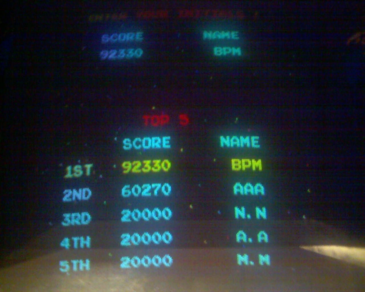 arenafoot: Galaga (Arcade) 92,330 points on 2016-03-21 00:02:37