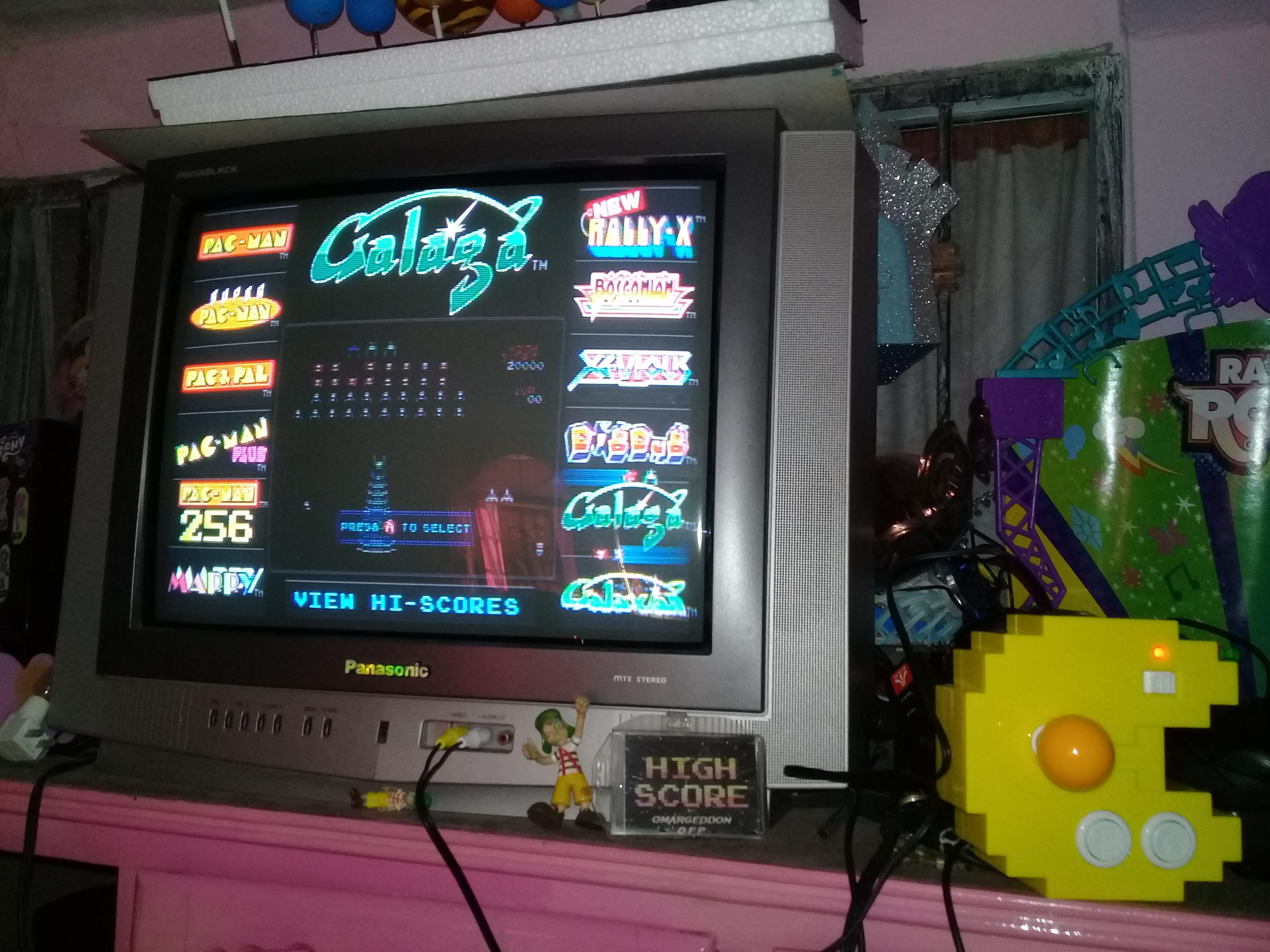 omargeddon: Galaga (Bandai Pac-Man Connect and Play) 84,110 points on 2018-12-20 16:46:43