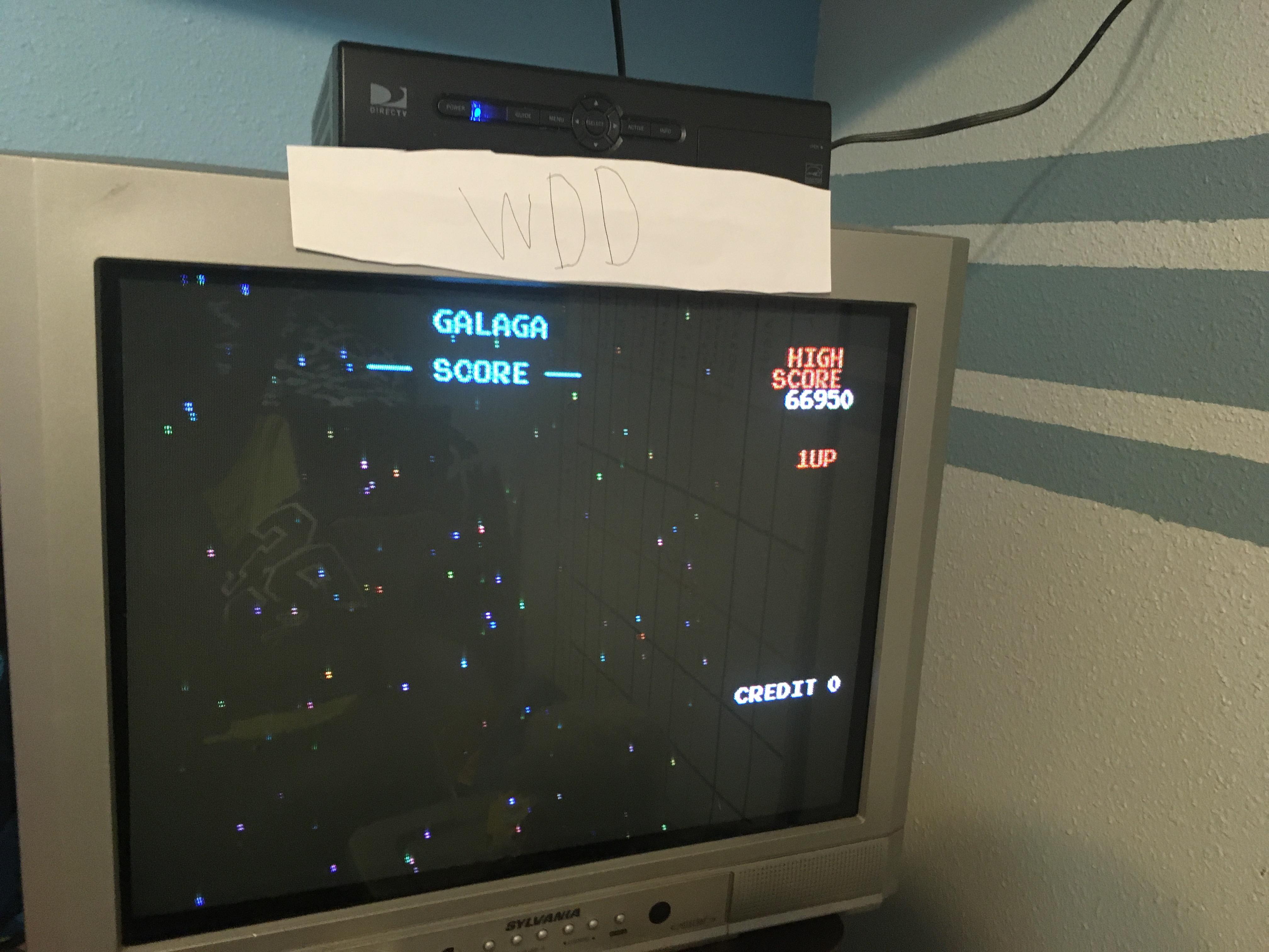 Galaga 66,950 points