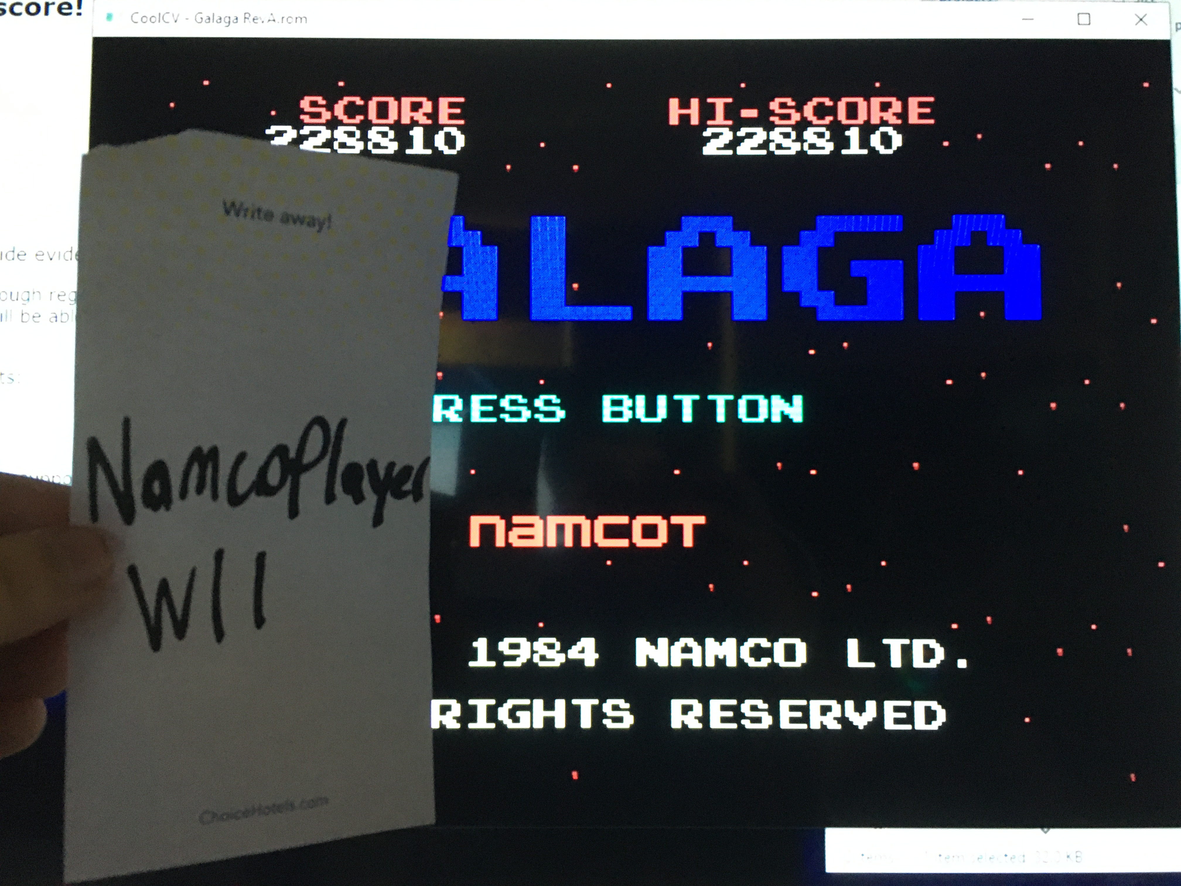 NamcoPlayer: Galaga (Colecovision Emulated) 228,810 points on 2020-11-18 14:07:02