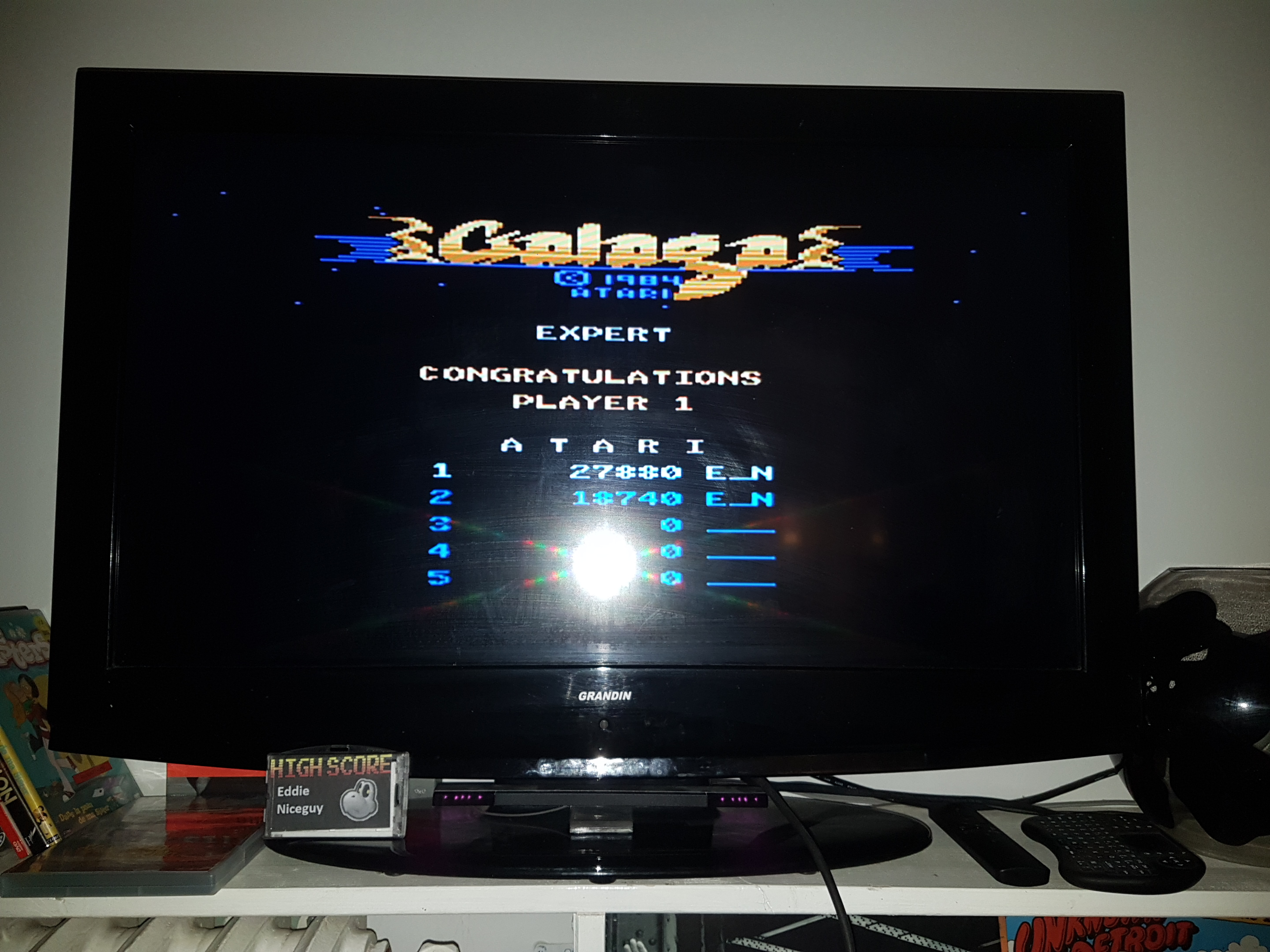 EddieNiceguy: Galaga: Expert (Atari 7800 Emulated) 27,880 points on 2019-03-22 17:18:10