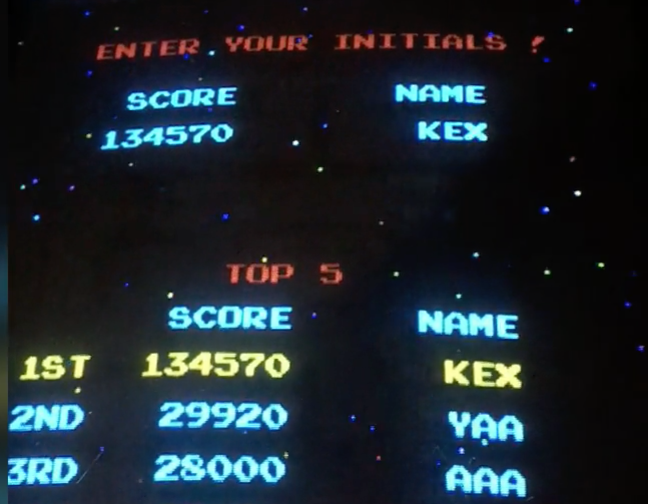 KnexPaerdz: Galaga: Fast Shoot (Arcade) 134,570 points on 2019-02-04 08:22:24