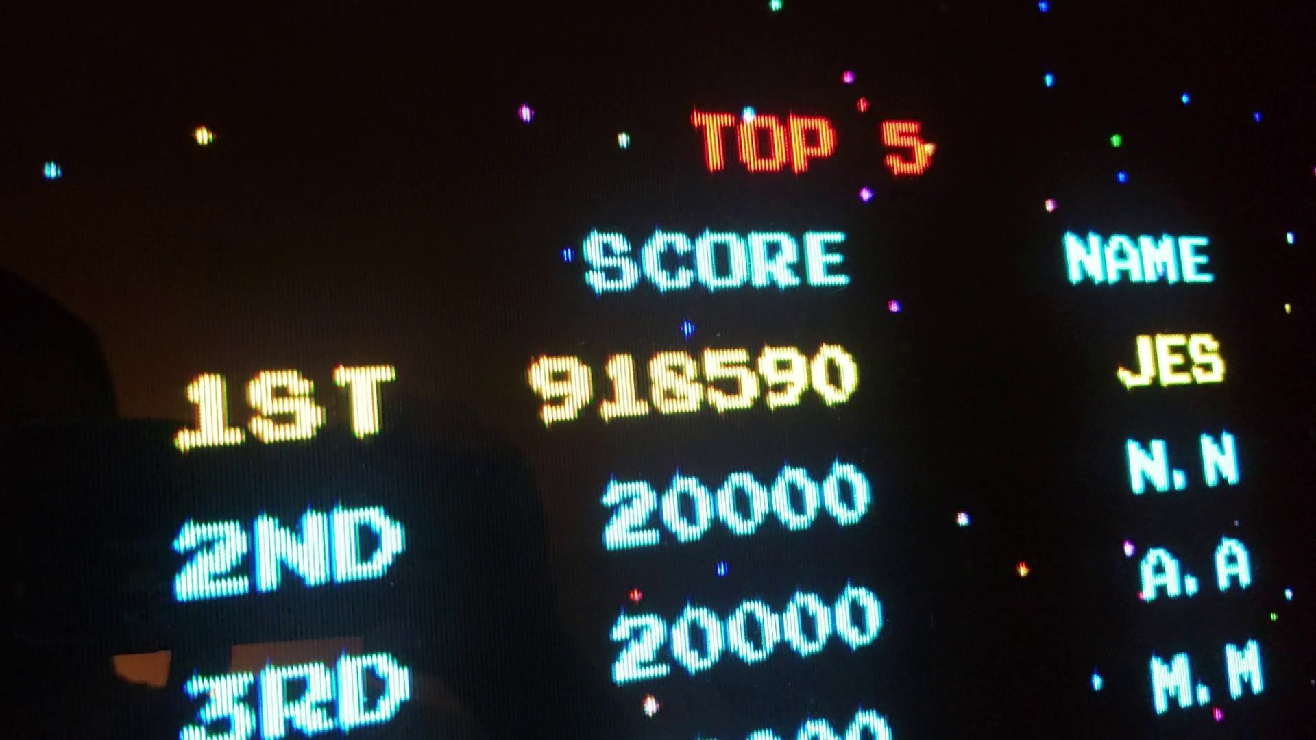 JES: Galaga: Fast Shoot [galagamf] (Arcade Emulated / M.A.M.E.) 1,918,590 points on 2020-01-18 03:05:50