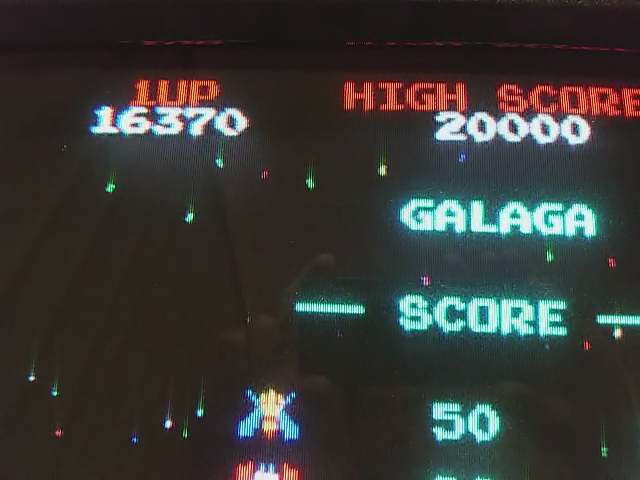 JES: Galaga [Final Score with 100% Hit/Miss Ratio] (Arcade Emulated / M.A.M.E.) 16,370 points on 2018-01-19 01:34:34