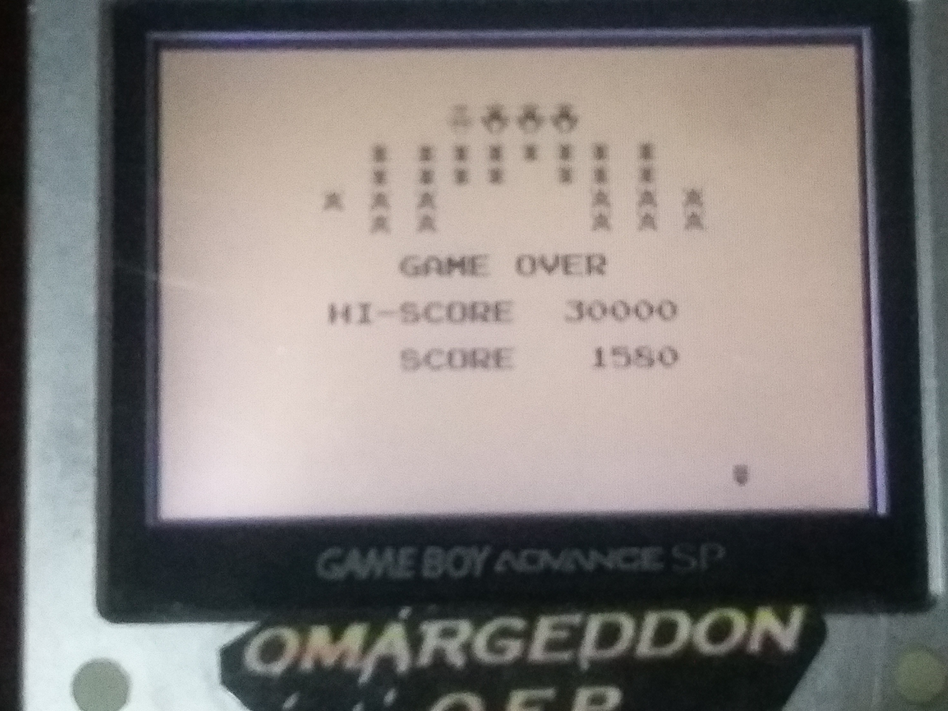 omargeddon: Galaga [Final Score with 100% Hit/Miss Ratio] (Game Boy) 1,580 points on 2018-01-17 14:23:21