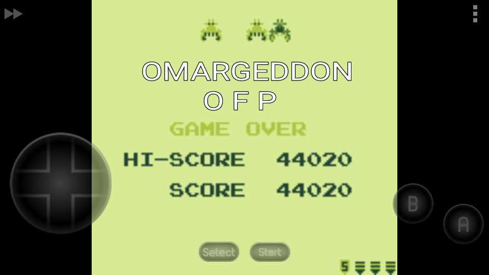 omargeddon: Galaga (Game Boy Emulated) 44,020 points on 2016-11-25 15:25:20