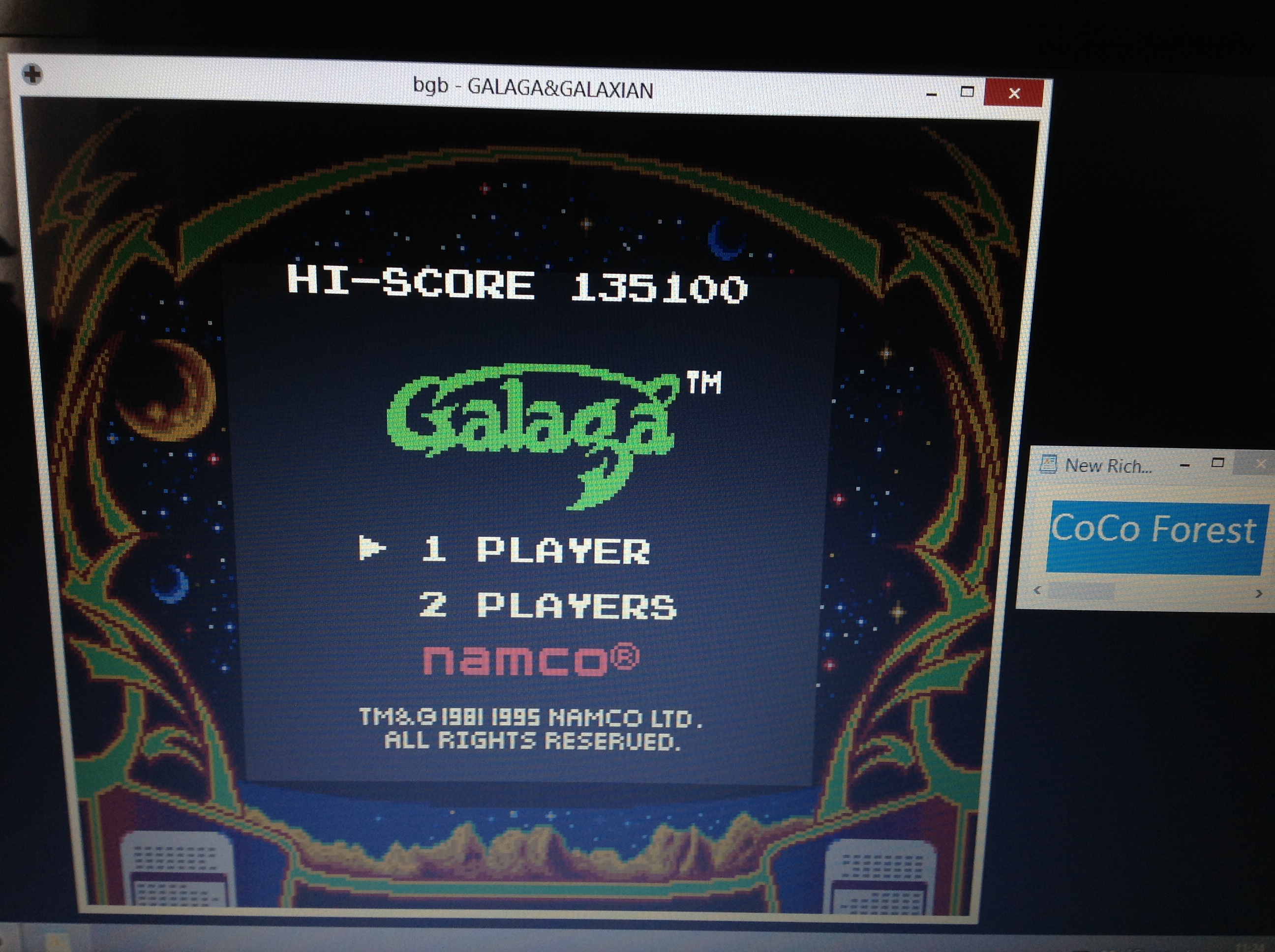 CoCoForest: Galaga (Game Boy Emulated) 135,100 points on 2018-10-13 05:25:25