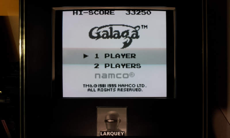Galaga 33,250 points