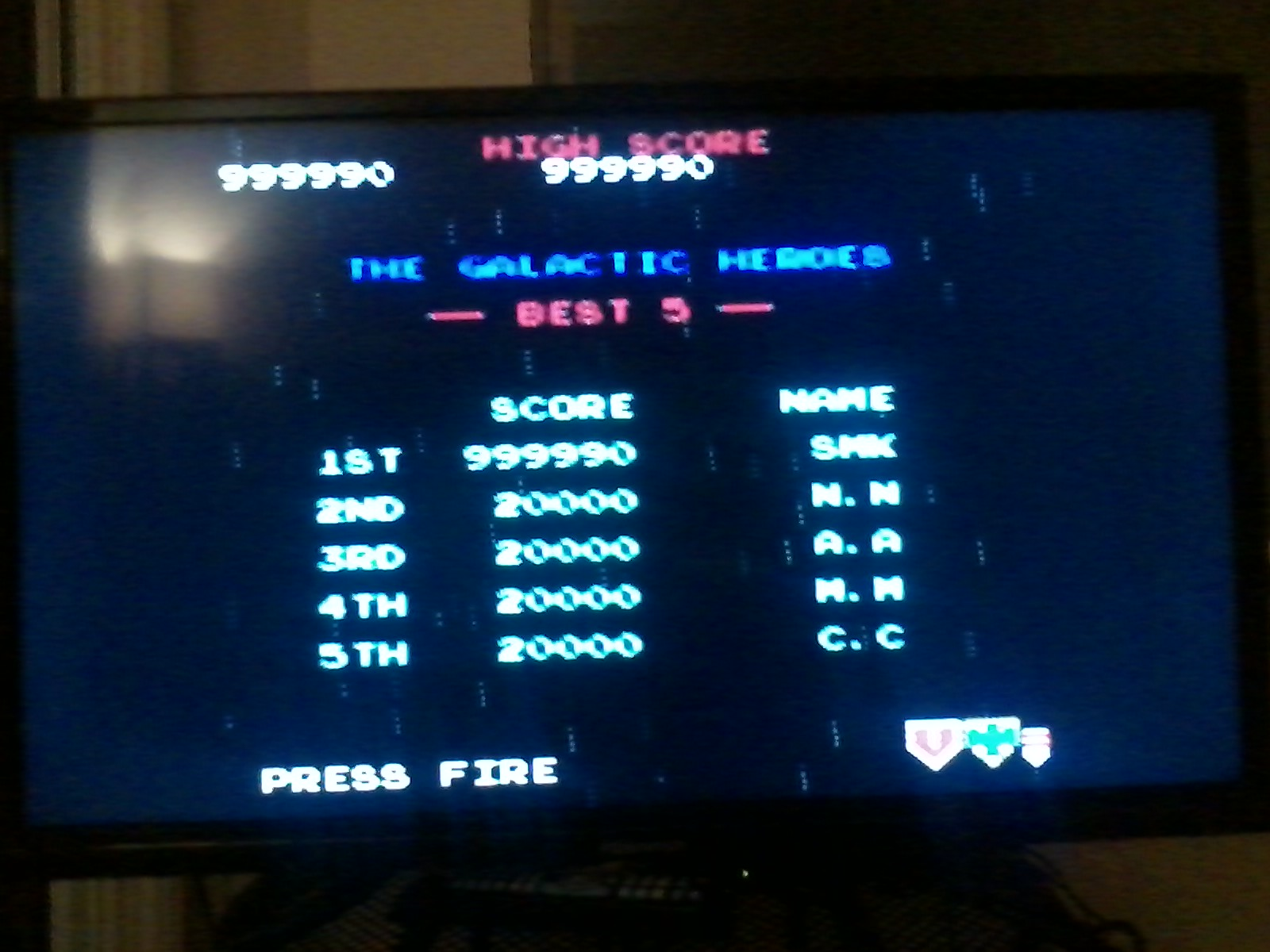 Galaga 999,990 points