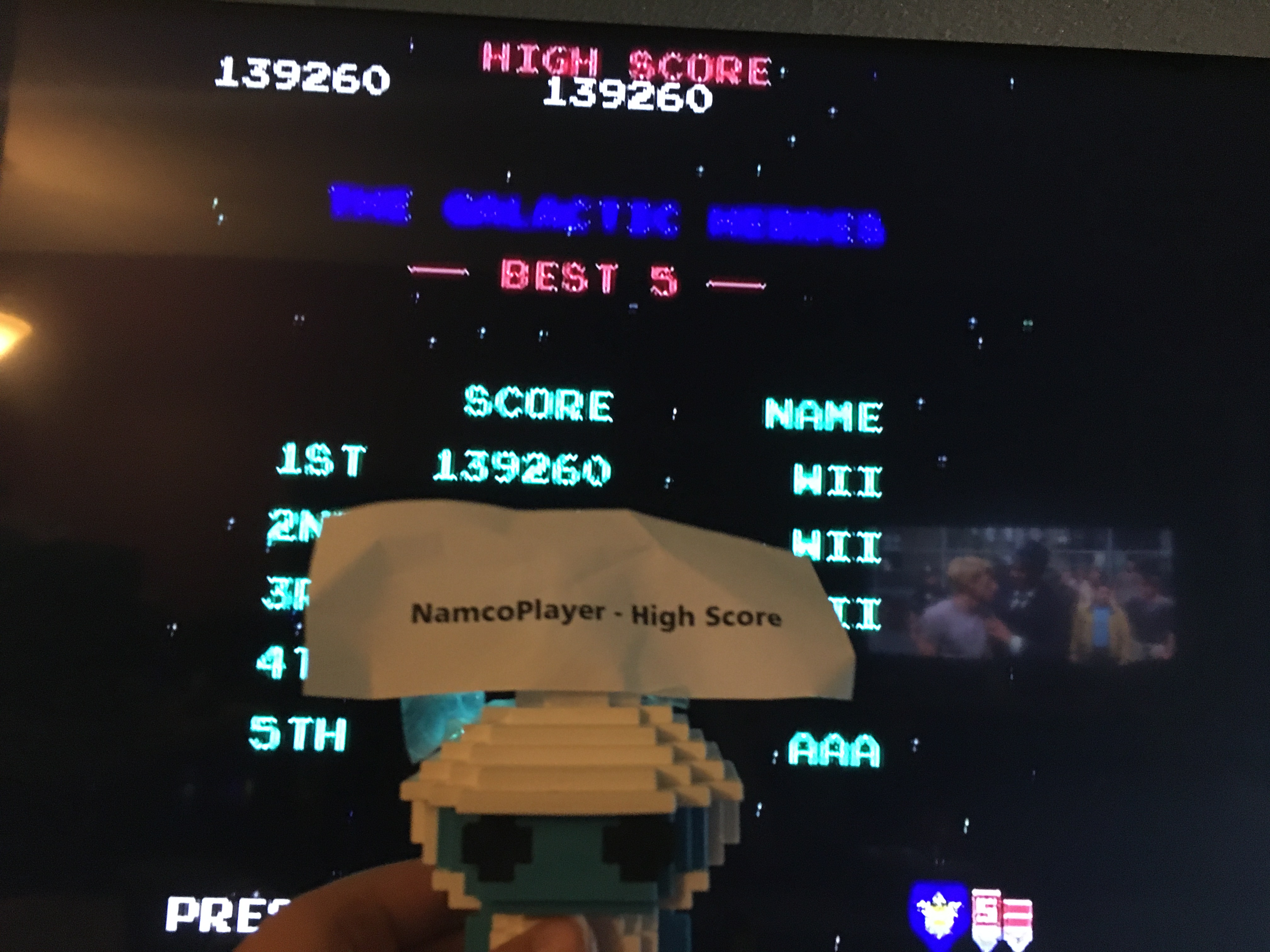 NamcoPlayer: Galaga (Jakks Pacific Retro Arcade Pac-Man) 139,260 points on 2020-09-08 13:17:00