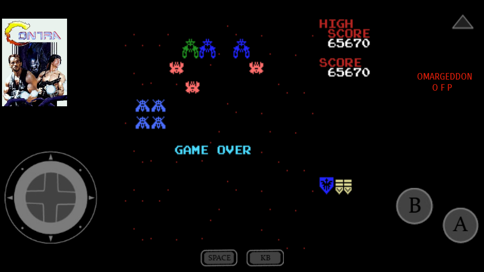 omargeddon: Galaga (MSX Emulated) 65,670 points on 2017-07-23 00:19:45