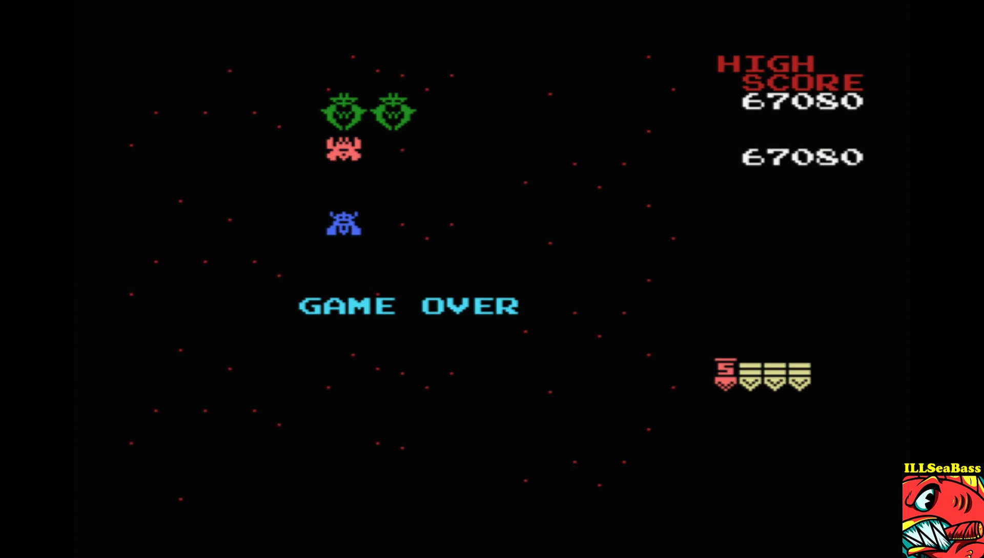 ILLSeaBass: Galaga (MSX Emulated) 67,080 points on 2017-07-23 22:02:05