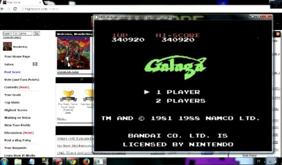 Galaga 340,920 points