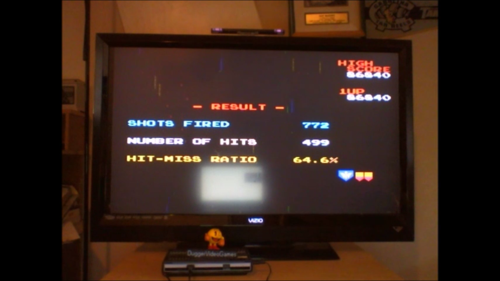 DuggerVideoGames: Galaga (NES/Famicom Emulated) 86,840 points on 2016-09-23 17:22:00