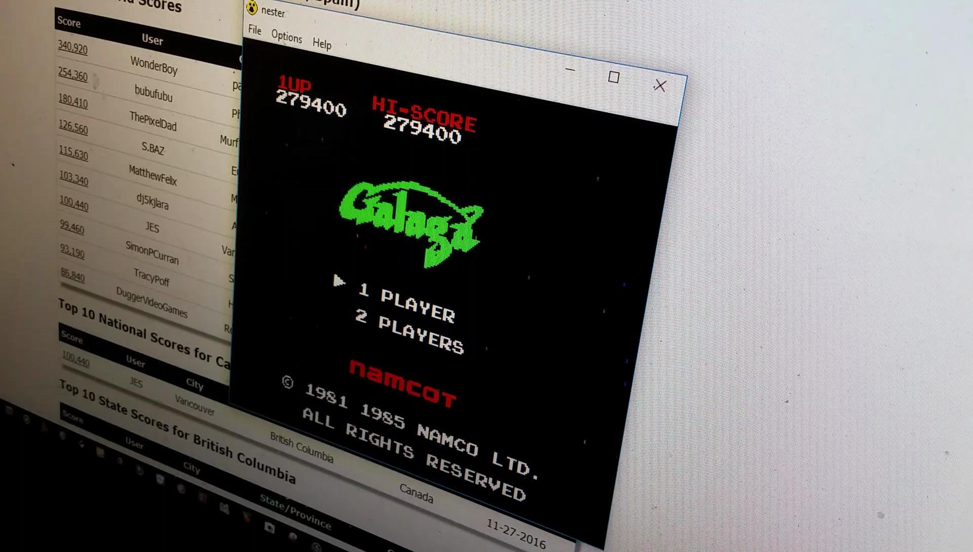 JES: Galaga (NES/Famicom Emulated) 279,400 points on 2017-03-29 23:30:39