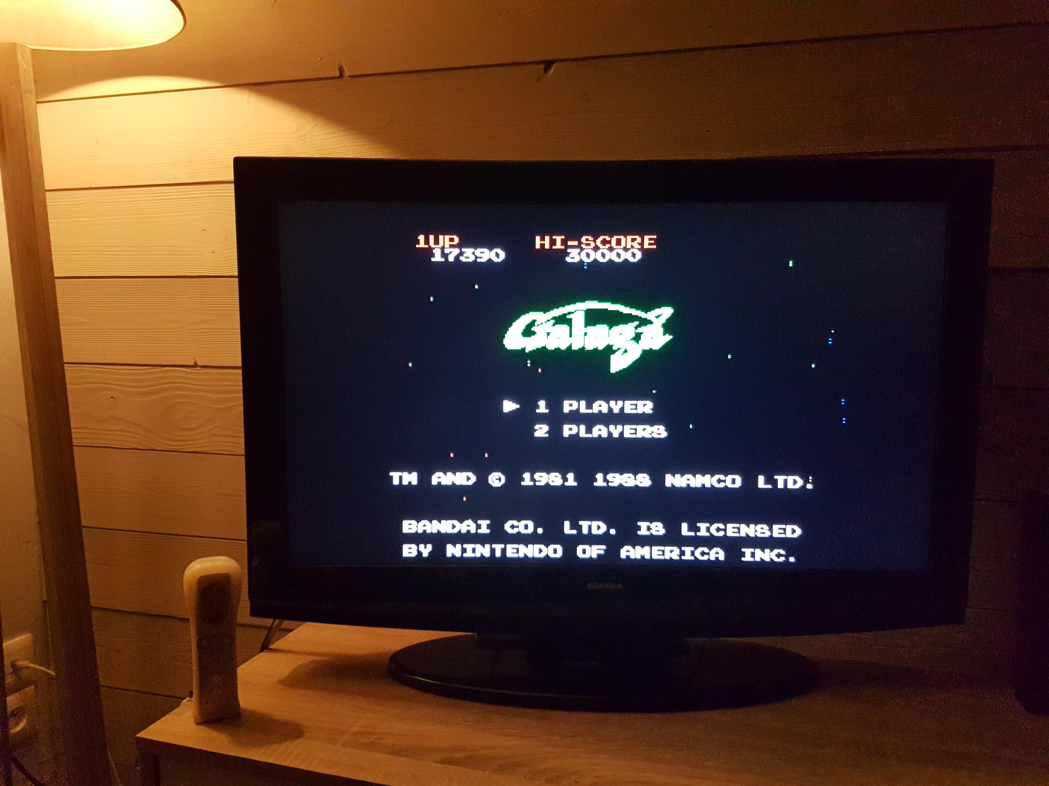 EddieNiceguy: Galaga (NES/Famicom Emulated) 17,390 points on 2018-01-20 15:27:45