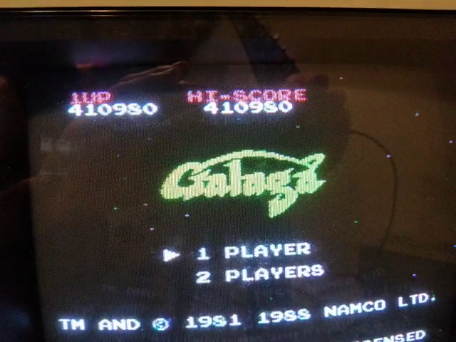 JES: Galaga (NES/Famicom) 410,980 points on 2018-07-06 21:11:25