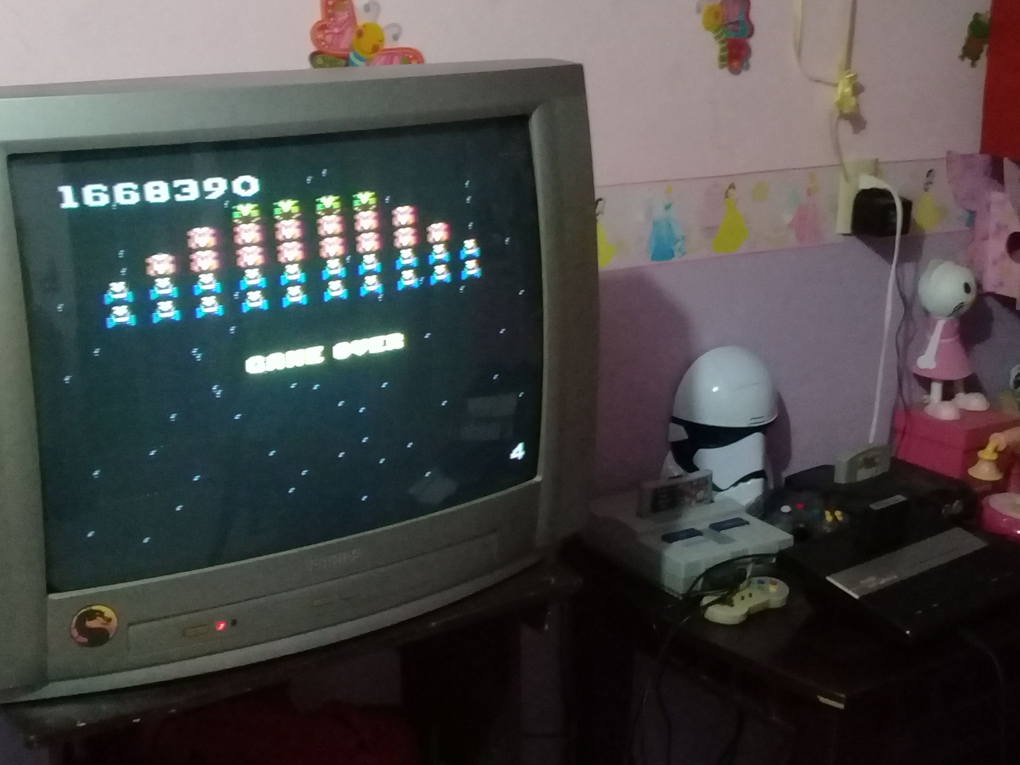 omargeddon: Galaga: Novice (Atari 7800) 1,668,390 points on 2020-09-20 03:16:56