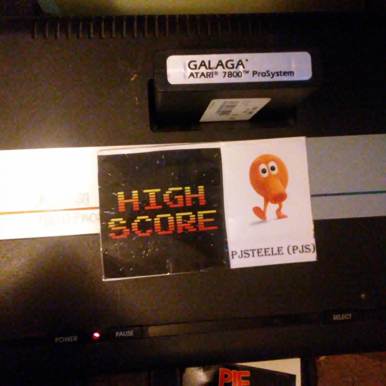Pjsteele: Galaga: Novice (Atari 7800) 125,620 points on 2018-09-04 18:01:25