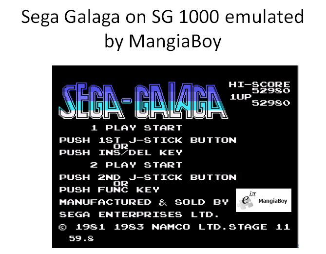 Galaga 52,980 points