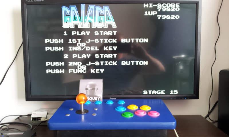 Larquey: Galaga (Sega SG-1000 Emulated) 79,820 points on 2018-05-21 16:51:42