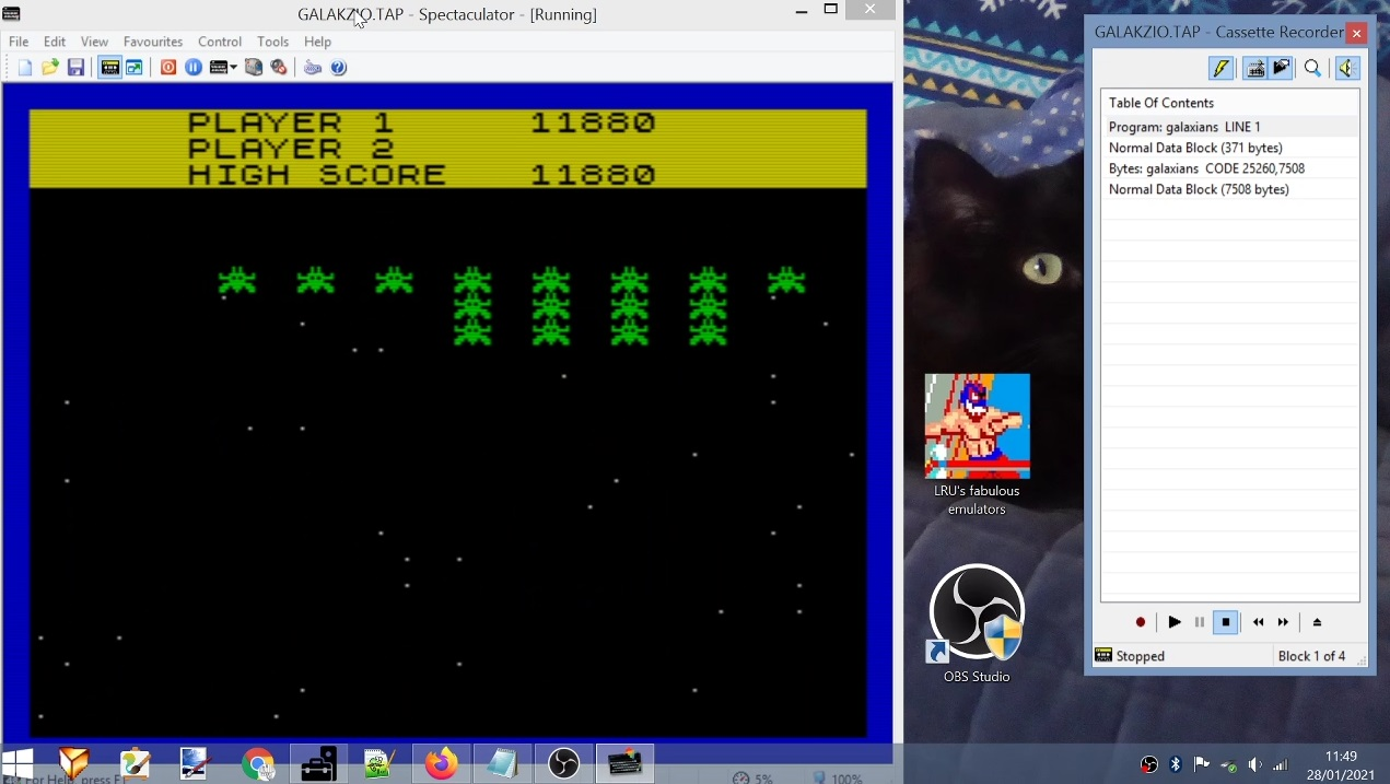 LuigiRuffolo: Galakzions [Slow] (ZX Spectrum Emulated) 11,880 points on 2021-01-28 05:04:04