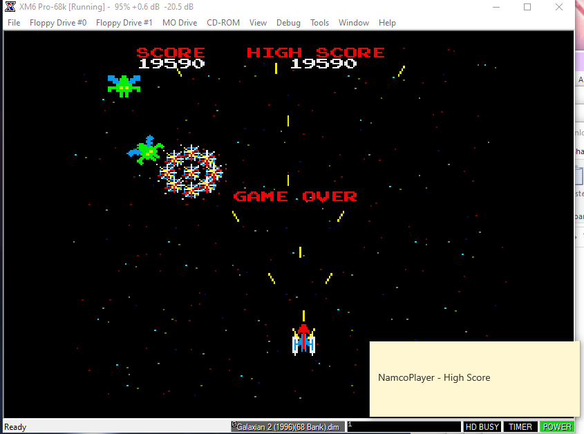 NamcoPlayer: Galaxian 2 (Sharp X68000 Emulated) 19,590 points on 2020-11-05 20:04:07
