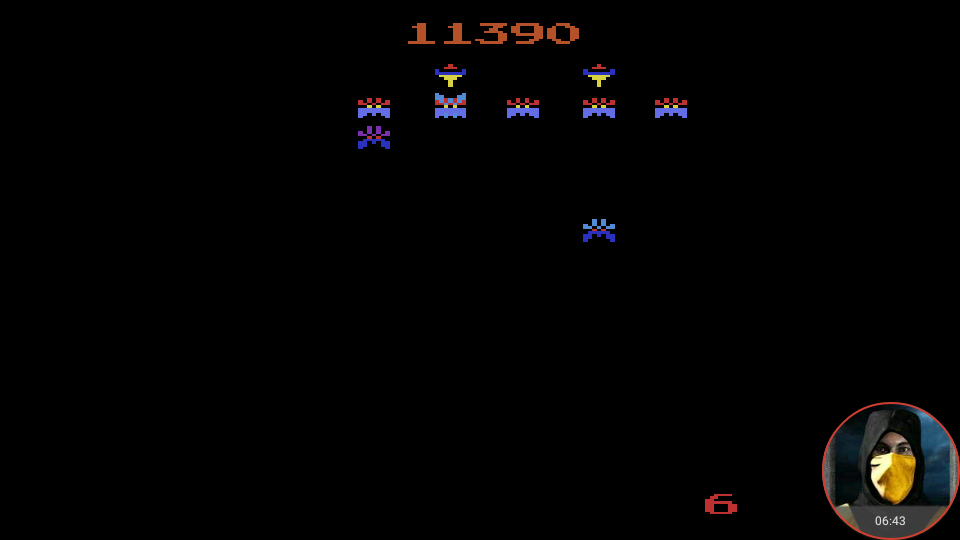 omargeddon: Galaxian Arcade (Atari 2600 Emulated Expert/A Mode) 11,390 points on 2018-02-20 08:57:01