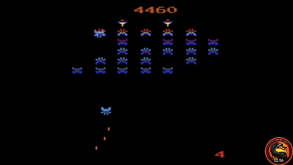 omargeddon: Galaxian Arcade [Game 2] (Atari 2600 Emulated Expert/A Mode) 4,460 points on 2020-04-02 17:01:58