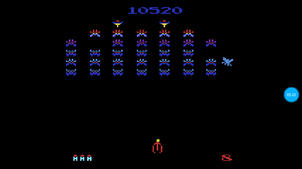 omargeddon: Galaxian Arcade [Game 2] (Atari 2600 Emulated Novice/B Mode) 10,520 points on 2018-07-14 01:42:47