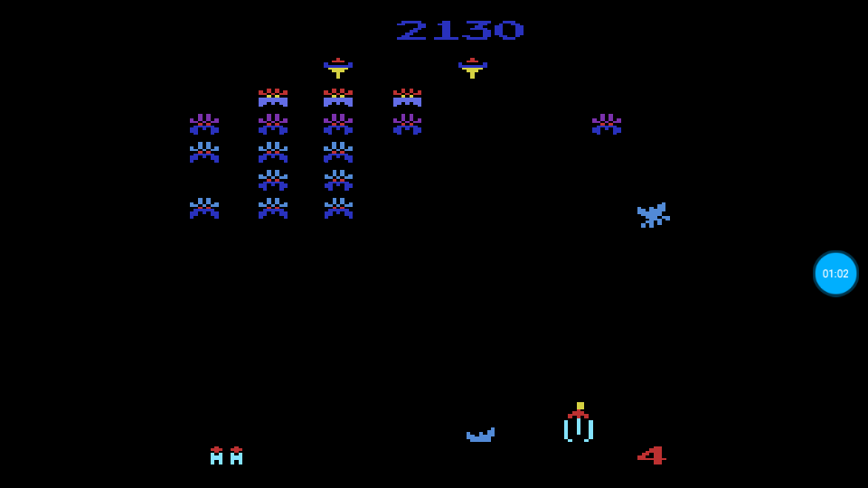 omargeddon: Galaxian Arcade [Game 3] (Atari 2600 Emulated Novice/B Mode) 2,130 points on 2018-07-14 01:43:54