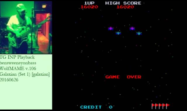 Galaxian 16,020 points