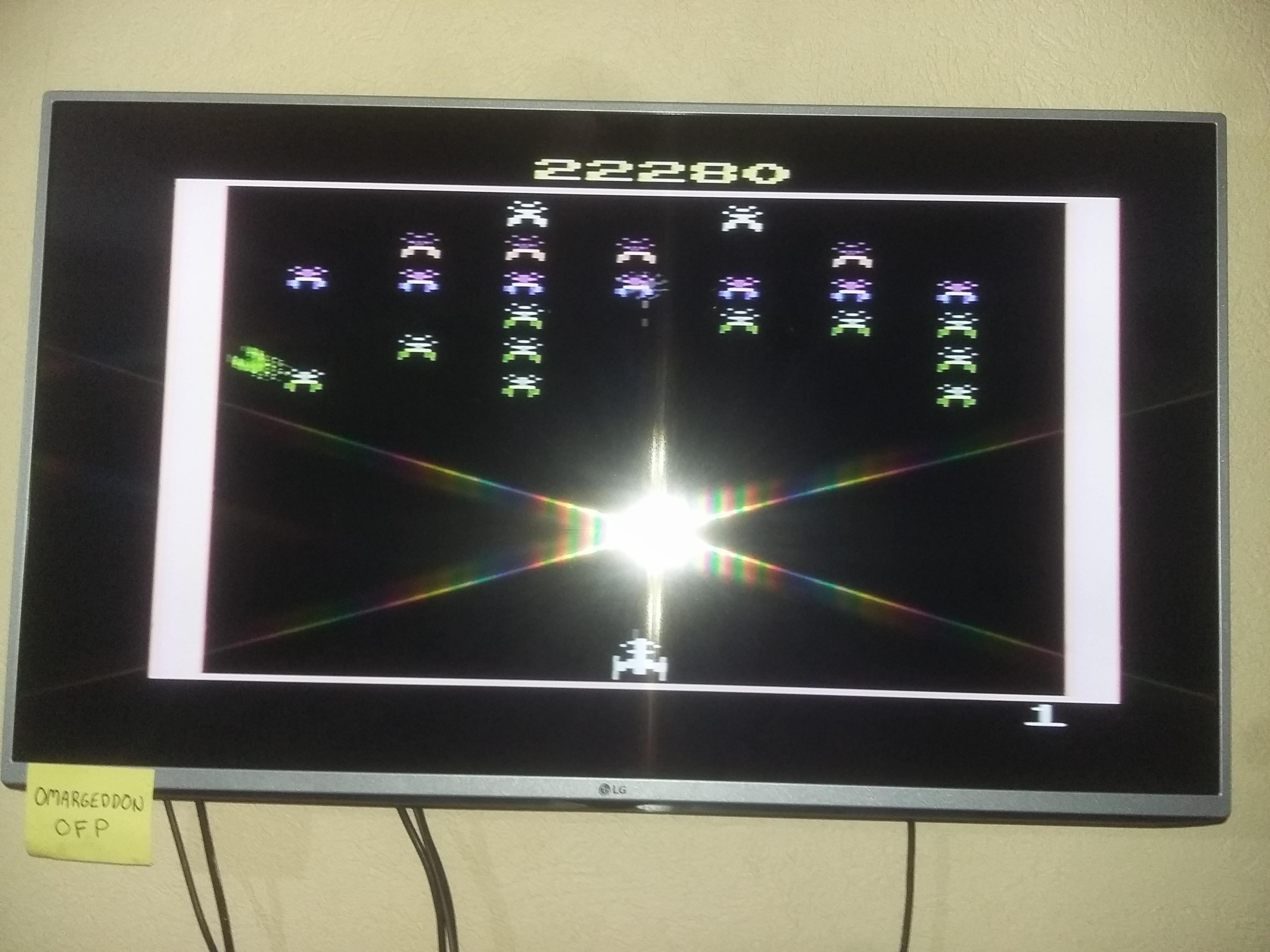 omargeddon: Galaxian (Atari 2600 Expert/A) 22,280 points on 2016-12-22 23:41:29