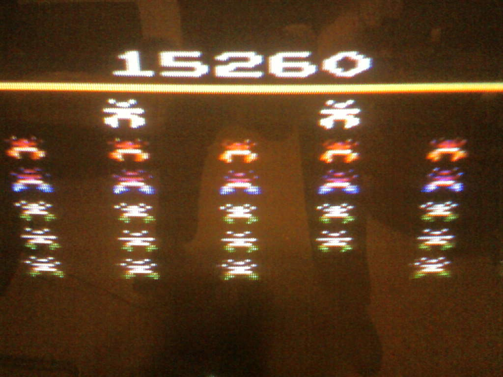 MisterVCS: Galaxian (Atari 2600 Expert/A) 15,260 points on 2017-02-25 14:59:49