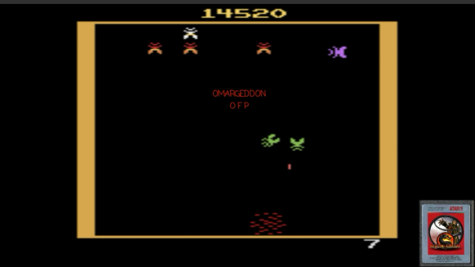 Galaxian 14,520 points