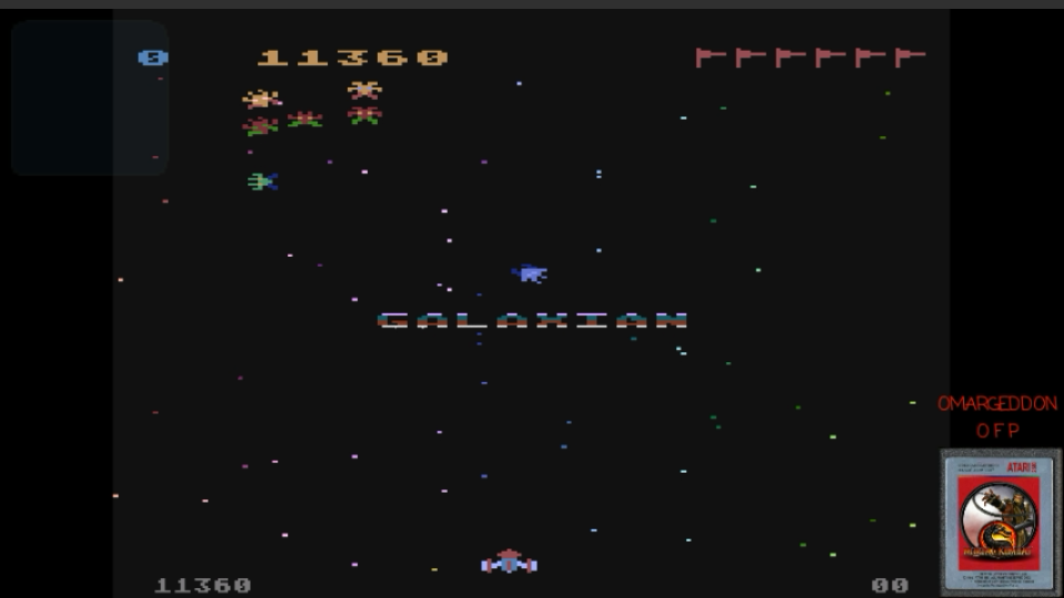 omargeddon: Galaxian (Atari 400/800/XL/XE Emulated) 11,360 points on 2017-03-06 10:39:22