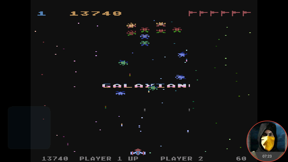 omargeddon: Galaxian (Atari 400/800/XL/XE Emulated) 13,740 points on 2018-02-16 21:32:29