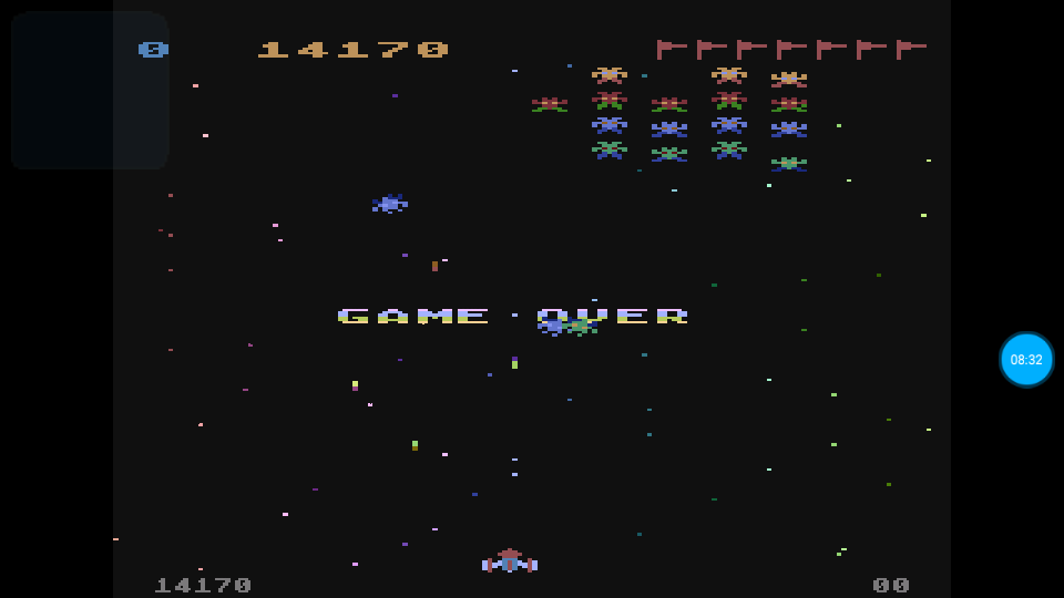 omargeddon: Galaxian (Atari 400/800/XL/XE Emulated) 14,170 points on 2018-07-18 21:13:11
