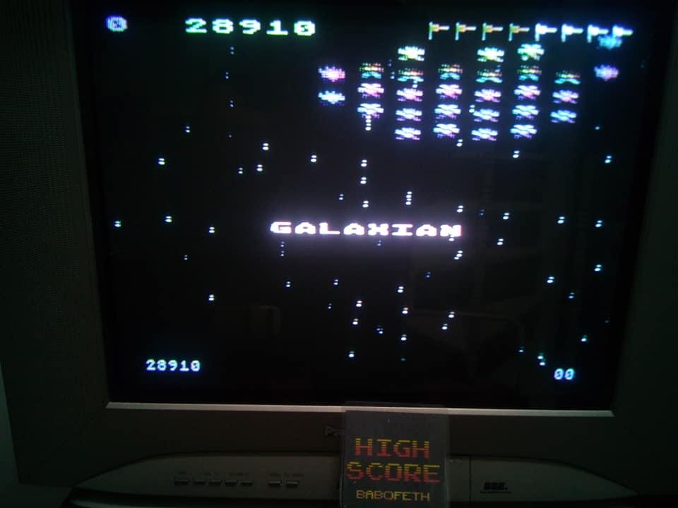 BabofetH: Galaxian (Atari 400/800/XL/XE) 28,910 points on 2020-06-04 02:44:32
