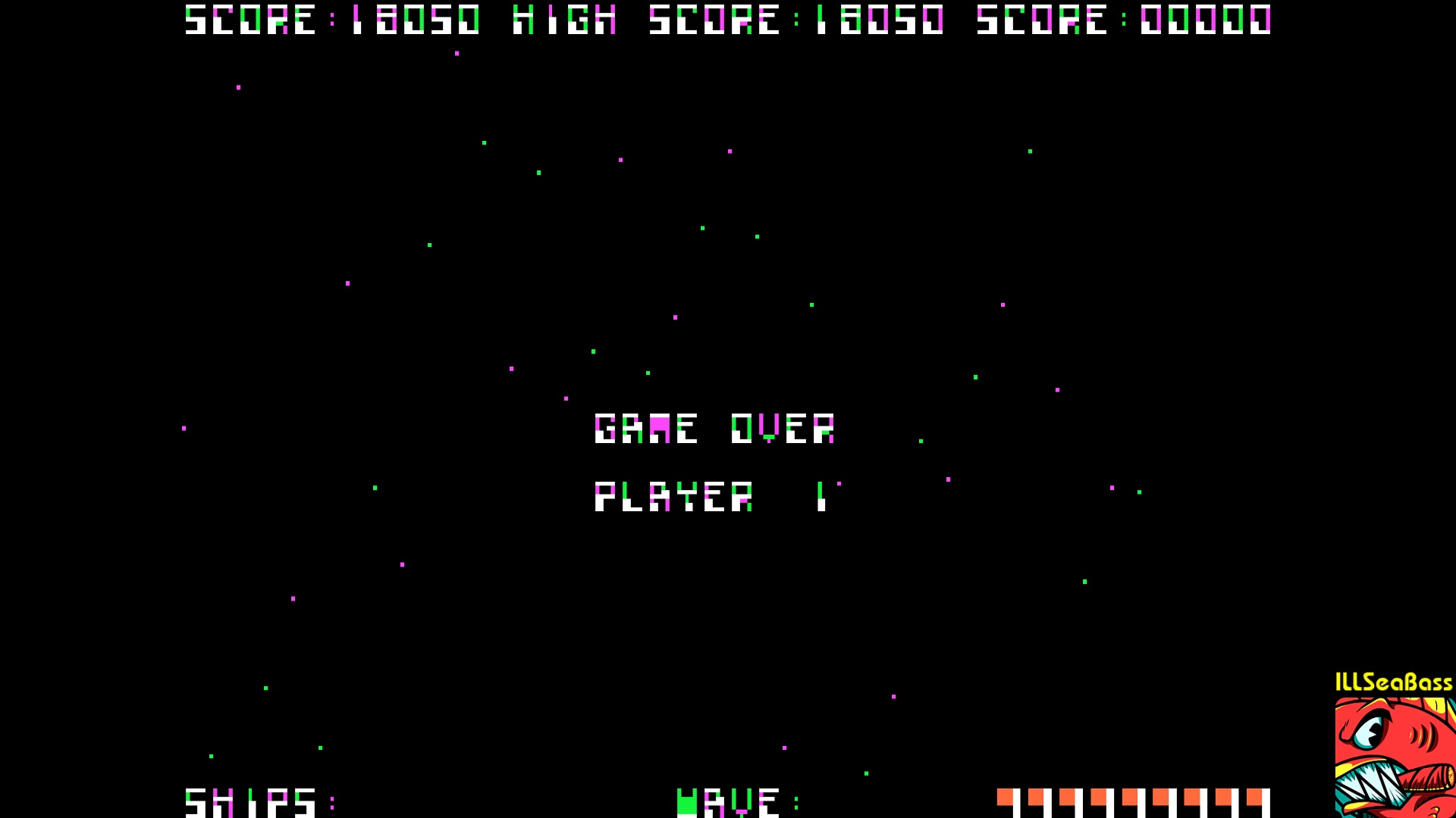 ILLSeaBass: Galaxian [Atarisoft] (Apple II Emulated) 18,050 points on 2018-01-12 00:33:41