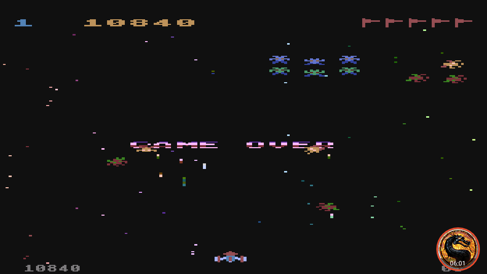 omargeddon: Galaxian [Difficulty: 1] (Atari 400/800/XL/XE Emulated) 10,840 points on 2019-12-09 12:20:33